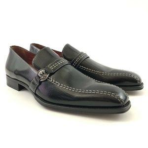 Mezlan Mens Castel Black Leather Loafers 10